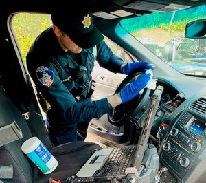 Vehicles are cleaned at least twice a day. (Photo/Santa Rosa Police Department)