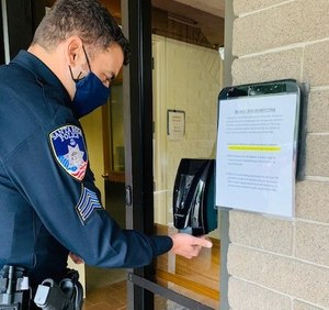 SRPD has limited access to some areas of its police station in an effort to keep any contamination from spreading. (Photo/Santa Rosa Police Department)