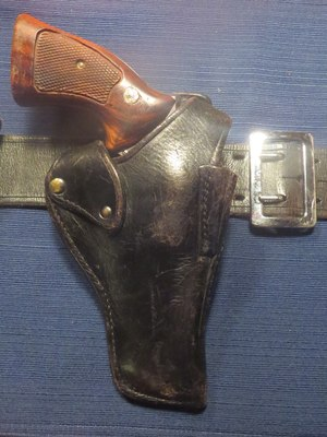 This is the first generation Smith and Wesson security holster that Dan Marcou self-purchased two weeks prior to the attack, which defeated the initial attempt to snatch his weapon while he was under attack. It held his self-purchased stainless steel Smith and Wesson Model 66 .357 Magnum Revolver in place throughout the entire attack.(Photo/Dan Marcou)