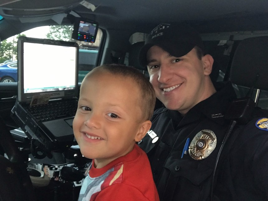 Sterrett has a particular soft spot for children, and takes the time to connect with them whenever he can on patrol.