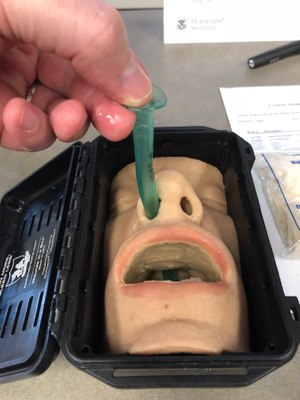 The nasopharyngeal airway is a great tool, but takes practice to administer. (Photo/Sean Curtis)