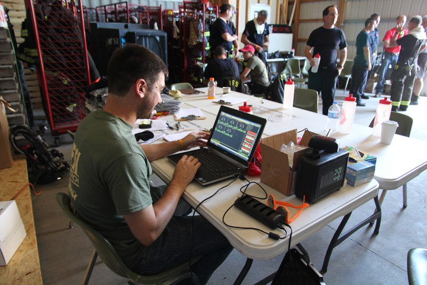 Several studies have tested firefighters' exposure to toxins post-fires; however, additional research is needed to determine how PFOA 24 enters a firefighter's bloodstream. (Photo/IFSI)