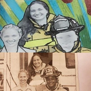 A public mural in Boynton Beach replaced the faces of past Deputy Chief Latosha Clemons, the department's first black female firefighter and deputy chief, and past Fire Chief Glenn Joseph, who is also black, with white faces. (Photo/Observer-Dispatch)