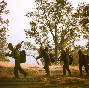 In order to get this level of up-close footage, the filmmakers had to get certified themselves as wildland firefighters. (Photo/FilmRise)