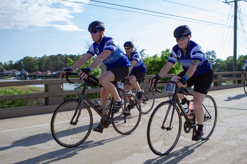 Wilson is pictured with other riders during the Police Unity Tour. (Photo/JB Whelchel)