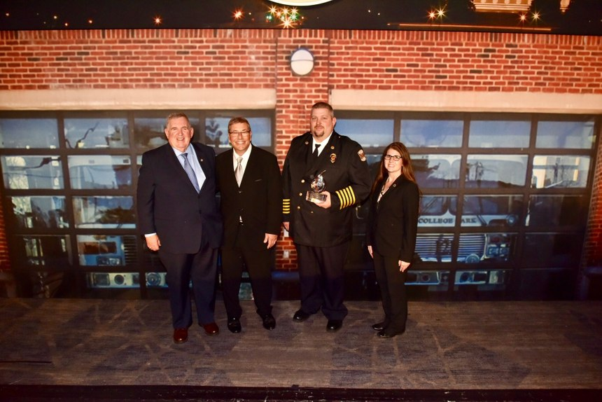 The Winona (Ohio) Fire Department received the CFSI/Masimo Excellence in Fire Service-Based EMS award for combination department. (Photo/John M. Buckman III)