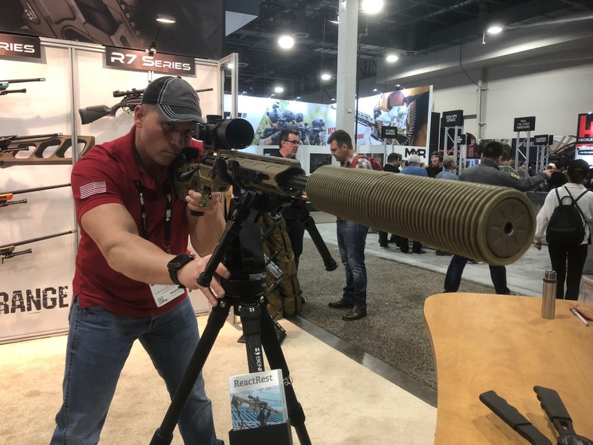 Modular sniper rifles allow the shooter to change calibers without having to change rifle fit, controls, optics or suppressors. (Photo/Mike Wood)