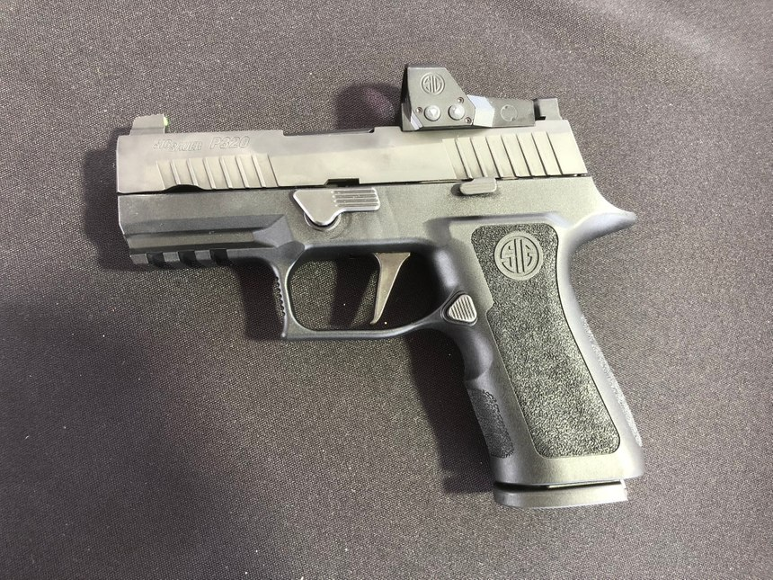The SIG P320 RXP XCompact is a perfect middleweight size that can serve both on and off duty. (Photo/Mike Wood)
