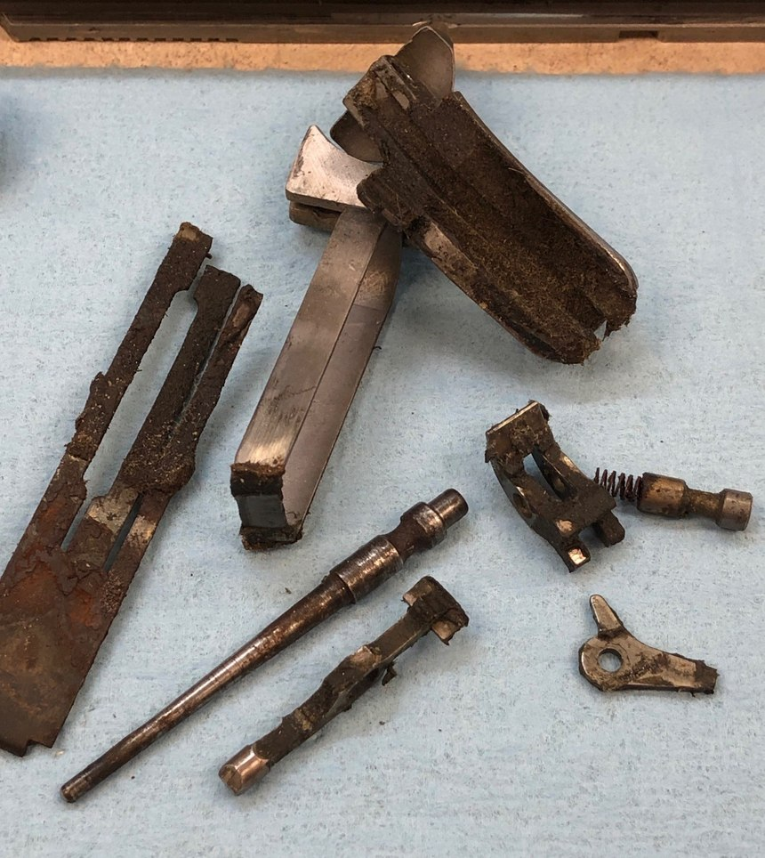 Some of these neglected parts were not salvageable and had to be replaced to get the gun operational again.