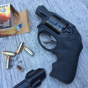 The full moon clip is the key to the metric Ruger's ability to shoot the same ammunition that an officer carries in a 9mm duty pistol. (Photo/Mike Wood)