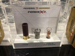 The Force X2 uses a traditional wad and very untraditional segmented pellets.
