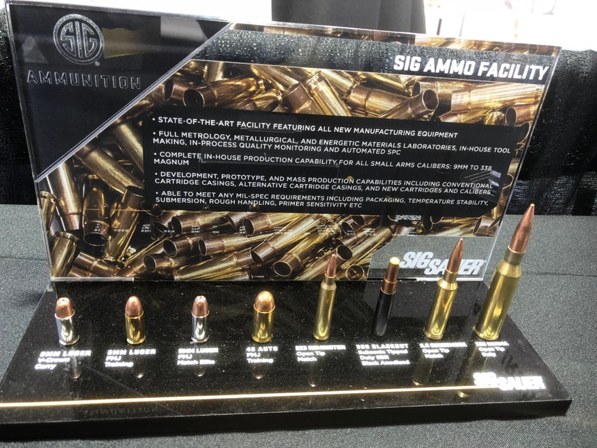 Sig Sauer's new ammunition facility will be busy meeting the needs of the Federal Law Enforcement Training Center as a result of the new $7.5M contract. (Photo/Mike Wood)
