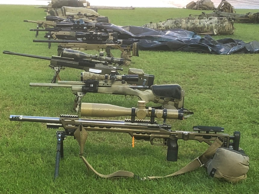 Students trained with a diverse array of rifles and learned to shoot all of them better. (Photo/Mike Wood)