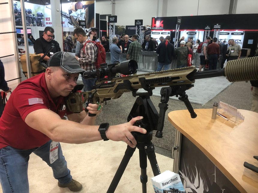 Securing large public venues places increased demands on police snipers, who must be able to hit more distant targets with greater authority and speed. The modular, multi-caliber rifle is an important tool to achieve this goal.