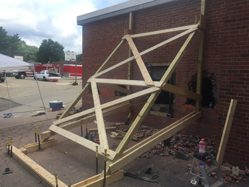 The department conducted structural collapse training at an acquired structure slated for demolition. (Photo/Dalan Zartman)