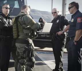 First responders react to an emergency situation using innovative Verizon technology. (Photo courtesy Verizon)