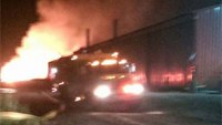 9 fire departments put out fire at Wis. steel plant