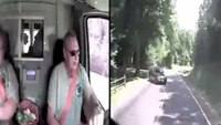 Dash cam captures ambulance crash