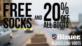 20% Off Boots + FREE Socks – Code <b>BLAUERBOOT</b>
