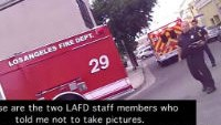 Medics, firefighters tell man to stop photographing his injured friend