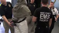 N.C. EMS don, doff personal protective equipment