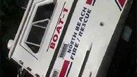 Md. volunteer fire department fire boat sinks