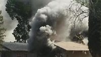 Calif. firefighter critical after falling through roof