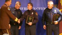 Firefighters honored for rescuing kids from submerged car
