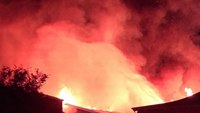 Fire rips through NC church; 2 firefighters hurt