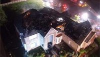Firefighters use drone to battle house fire