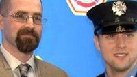Firefighter meets bone marrow donation recipient