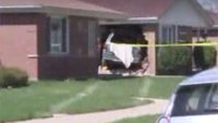 Man dies after crashing van into firefighter's home