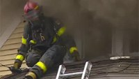 Minn. firefighters bail out window, escape flashover