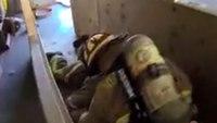 Firefighter down training exercise