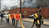 Civilians stretch supply lines at Pa. warehouse fire