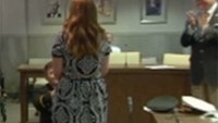 Firefighter proposes to girlfriend during promotion ceremony