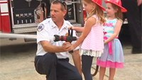 Firefighters meet kids they saved in collapse