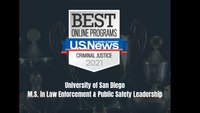 University of San Diego ranked among the nation's best online criminal justice master's degrees