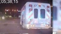 Dash Cam: Texas police chase stolen ambulance