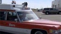 Vintage ambulances on display in Alberta