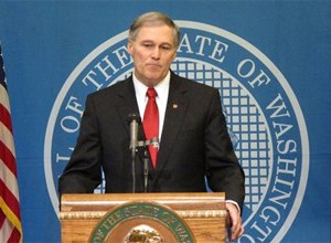 Wash. Gov. Jay Inslee announces Tuesday, Feb. 11, 2014, that he is suspending the use of the death penalty in Washington state.